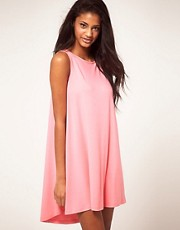 ASOS Mini Swing Dress with Dipped Hem