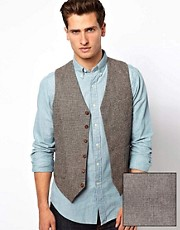 ASOS Suit Waistcoat In Houndstooth