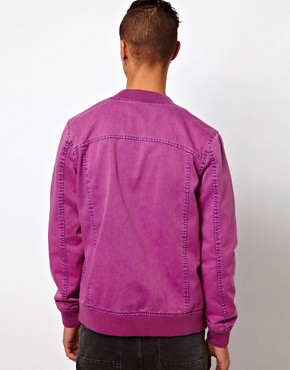 Image 2 ofASOS Bomber Jacket With Acid Wash