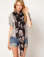 ASOS Skull and Floral Scarf