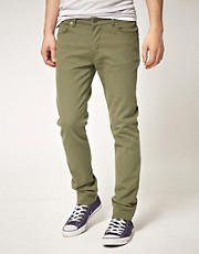ASOS Skinny Jeans In Khaki