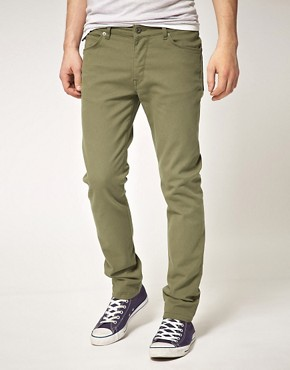 Image 1 ofASOS Skinny Jeans In Khaki