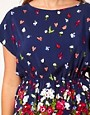 Image 3 ofASOS CURVE Exclusive Skater Dress With Floral Border