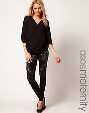 ASOS Maternity Leggings With Beaded Embellishment