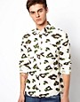 Image 1 ofASOS Shirt With Leopard Camo Print
