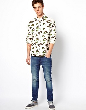Image 4 ofASOS Shirt With Leopard Camo Print