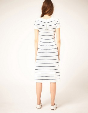 Image 2 of ASOS Midi Striped Knit Dress