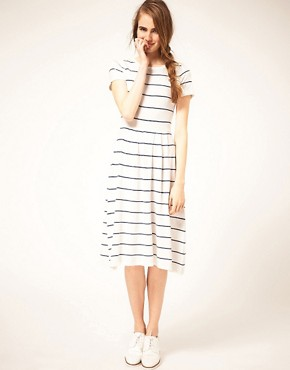 Image 4 of ASOS Midi Striped Knit Dress