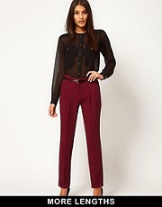 ASOS Peg Trousers With Pleat Front