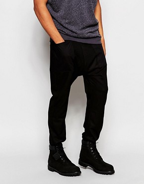 ASOS Drop Crotch Joggers In Lightweight Fabric With Pockets