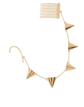 Image 3 ofASOS Gold Bunting Ear Cuff