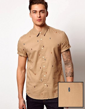 Image 1 of ASOS Shirt With Embroidery