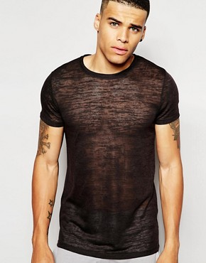 ASOS Loungewear Longline T-Shirt In Slub Fabric