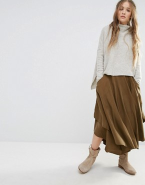 Free People Free Falling Midi Skirt
