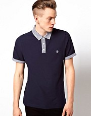 Original Penguin Polo with Check Collar