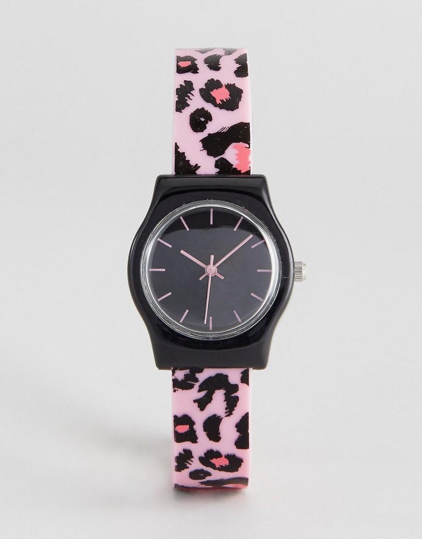 ASOS Animal Print Silicon Watch - Pink