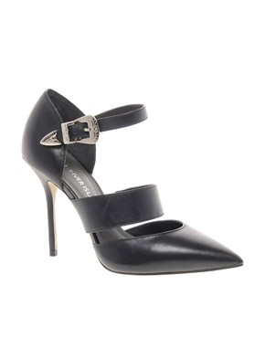 Image 1 ofRiver Island Oboe Pointed Strapped Shoes