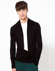Unconditional Jumper with Open Collar