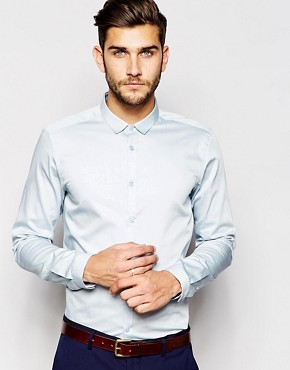 ASOS Smart Shirt In Long Sleeve With Egyptian Cotton