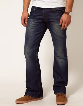 Image 1 ofG Star Jeans 3301 Bootcut Fit Dark Aged