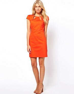 Image 4 ofOasis Cut Away Shift Dress
