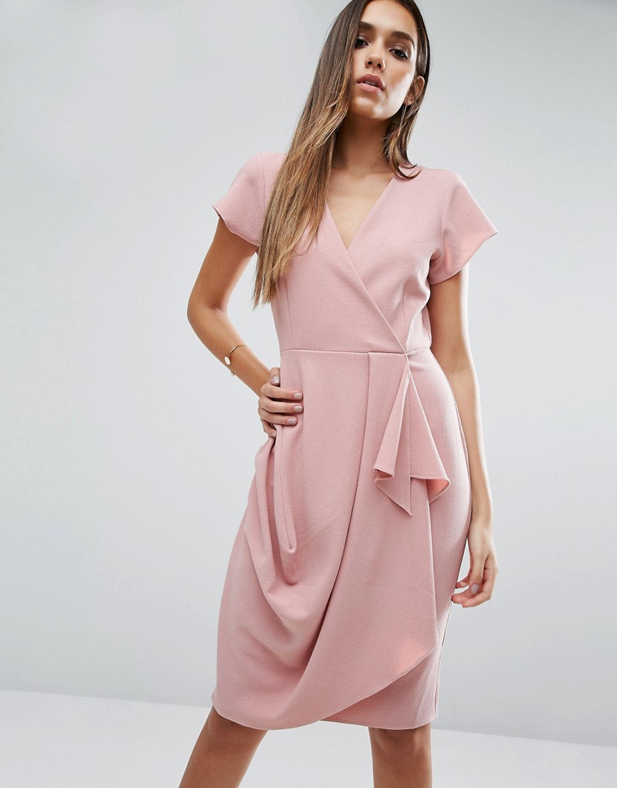 ASOS Drape And Waterfall Skirt Dress