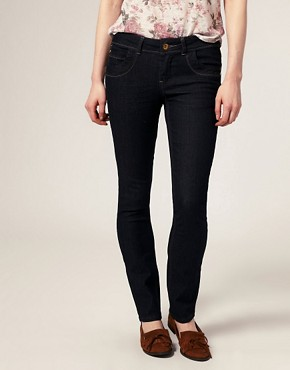 Image 1 ofA Wear Dark Wash Skinny Jeans