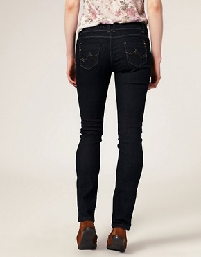 Image 2 ofA Wear Dark Wash Skinny Jeans