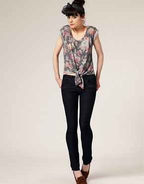 Image 4 ofA Wear Dark Wash Skinny Jeans