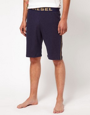 Image 1 ofDiesel Logo Waist Band Lounge Shorts
