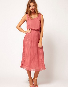 Image 1 ofRare Pleat Midi Dress