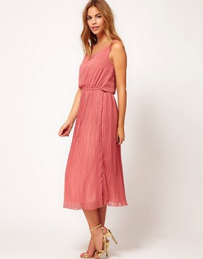 Image 4 ofRare Pleat Midi Dress