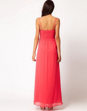 Image 2 ofLittle Mistress Embellished Strappy Maxi Dress