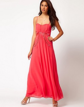 Image 4 ofLittle Mistress Embellished Strappy Maxi Dress
