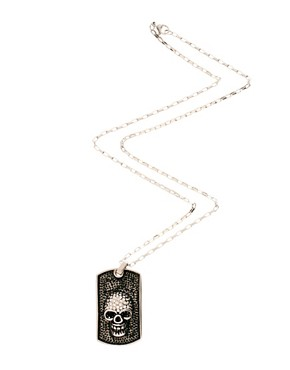 Image 2 ofShimla Skull Dogtag Necklace