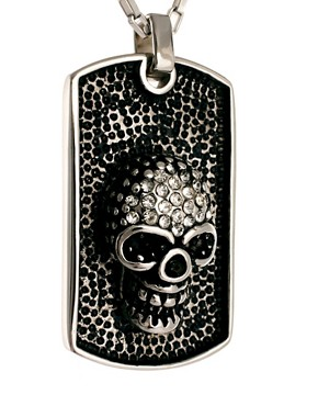 Image 4 ofShimla Skull Dogtag Necklace