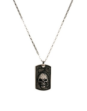 Image 1 ofShimla Skull Dogtag Necklace