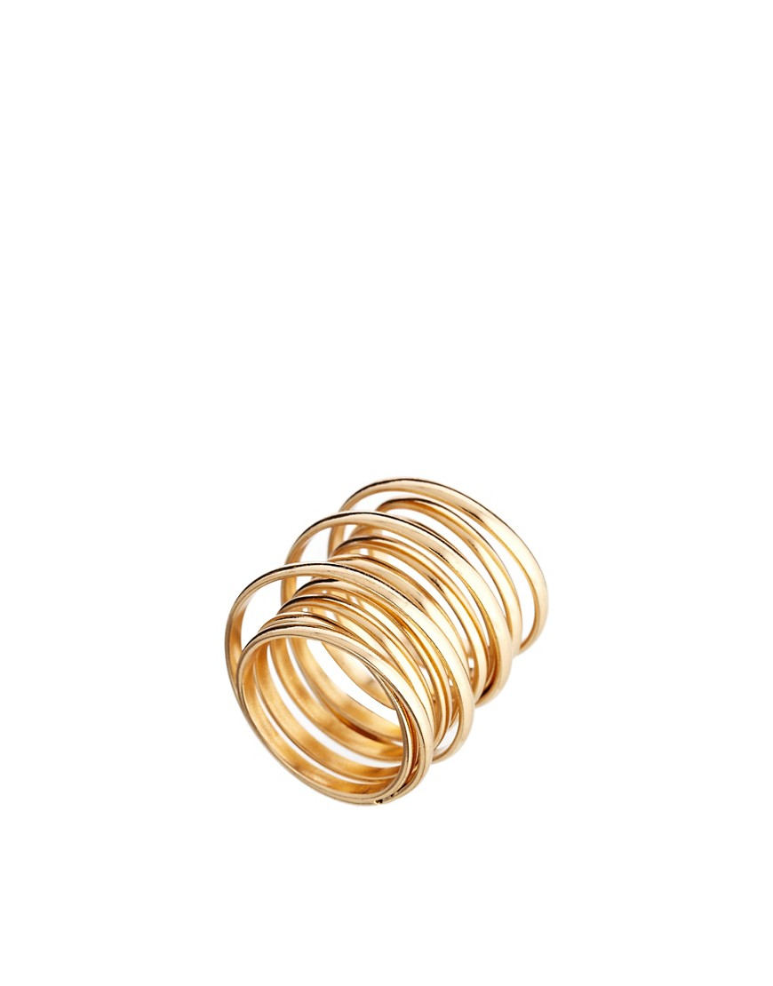 Image 1 of ASOS Chunky Coil Ring