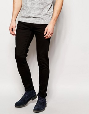 Nudie Jeans Skinny Lin Stretch Fit Black Black