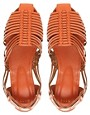 Image 3 of ASOS MARCO Leather Woven Flat Shoes