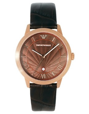 Image 1 ofEmporio Armani AR1613 Leather Watch