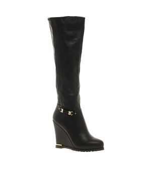 Image 1 ofRiver Island Wedge Over The Knee Boots