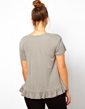 Image 2 ofASOS CURVE Oversize Top With Frill