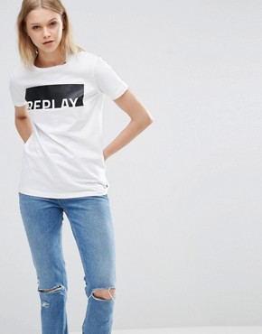 Replay - T-shirt con logo