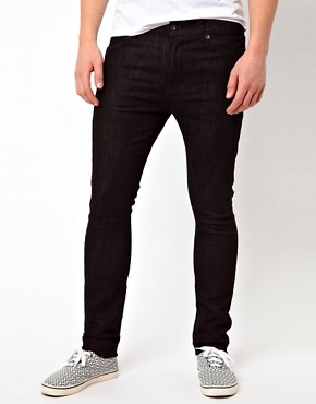 Image 1 ofASOS Super Skinny Jeans In Black