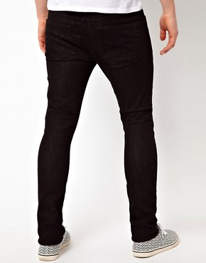 Image 2 ofASOS Super Skinny Jeans In Black