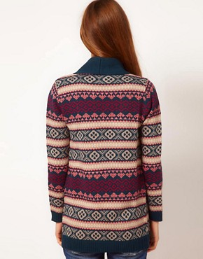 Image 2 ofA Wear Fairisle Edge Cardigan