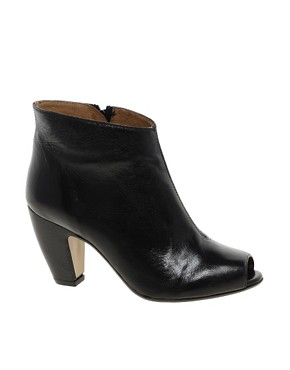 Image 1 ofASOS ANDES Leather Ankle Boots