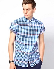 Fred Perry Gingham Shirt with Rolled Sleeves
