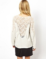 ASOS Jumper with Lace Insert